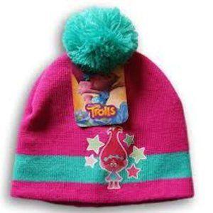 DreamWorks Trolls Pink Pom Pom Knit Hat Beanie Cap